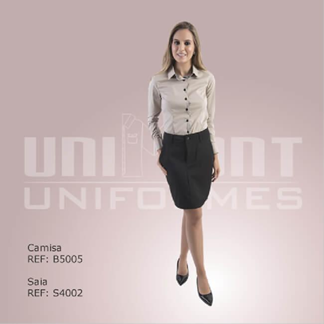 Uniforme Unimont Saia Preta Social