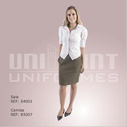 Uniforme Unimont Branco e Beje