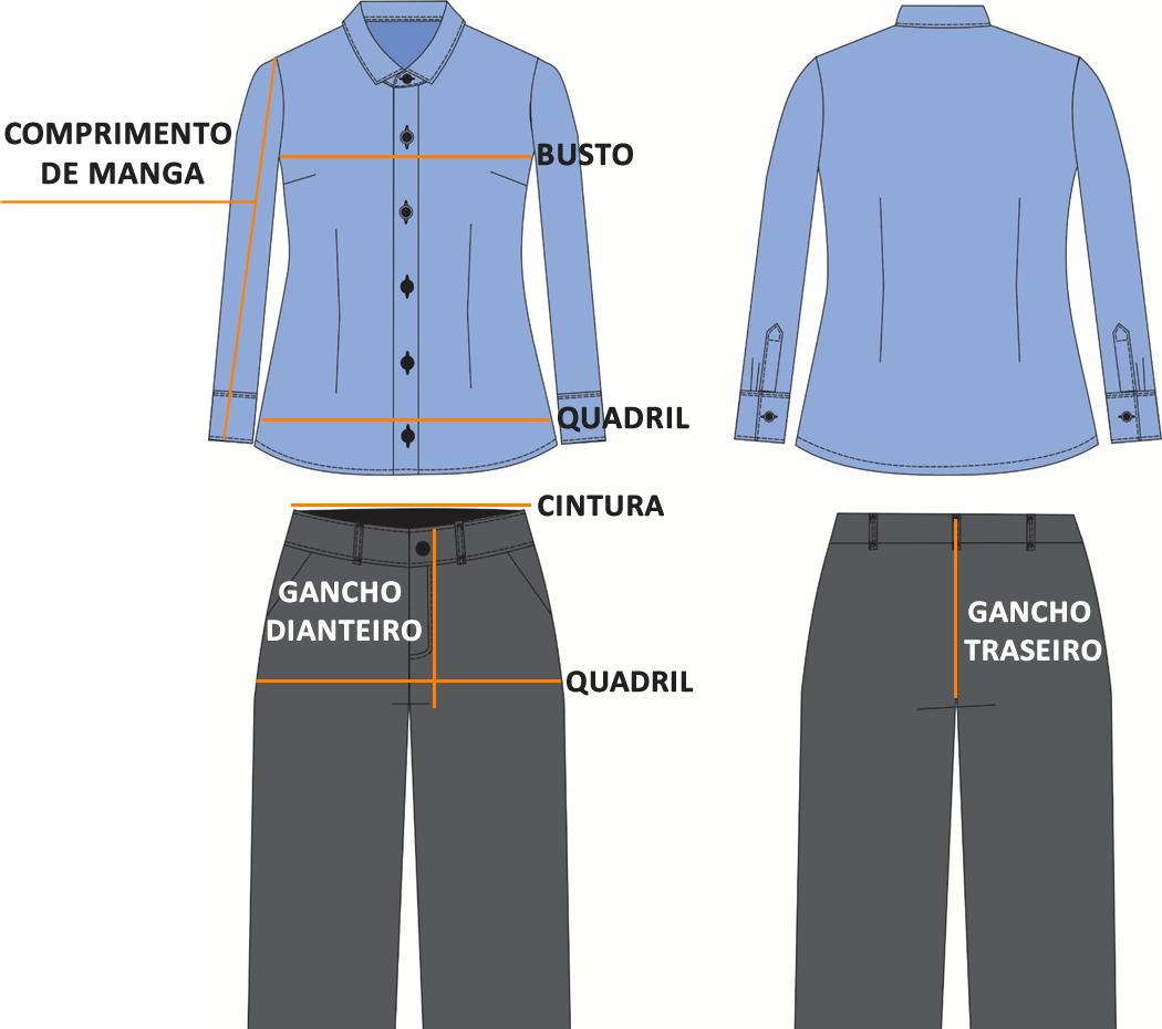 Tabela de Medidas Unimont Uniformes